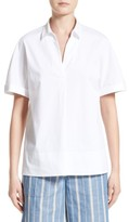 Lafayette 148 New York Women's Damon Cotton Blend Blouse