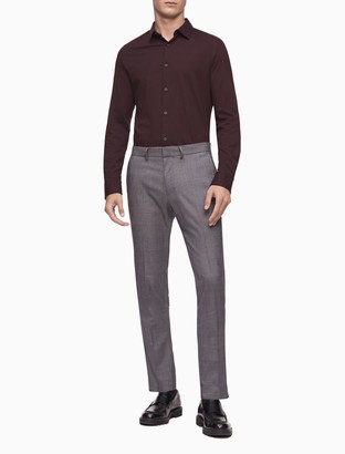 Calvin Klein Skinny Fit Glen Plaid 4-Pocket Pants
