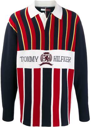 Tommy Hilfiger striped print polo shirt