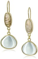"Cole Haan Semi Precious Items"" Labradorite and Green Amy Double Drop Earrings"