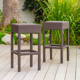 Asstd National Brand Trinidad Set of 2 Wicker Barstools