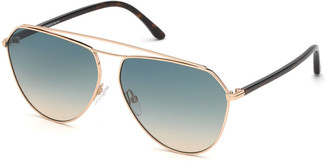 Tom Ford Metal Gradient Aviator Sunglasses