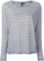 Woolrich striped T-shirt - women - Linen/Flax - XS