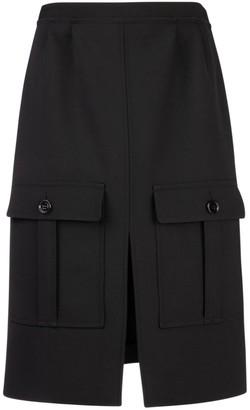 Chloé High Waist Front Slit Skirt