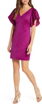 Eliza J Pleated Sleeve Shift Dress