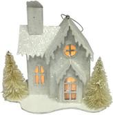 Christmas Shop Orn-House W/ LED Silver