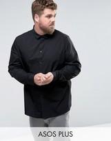 Asos PLUS Regular Fit Shirt In Black
