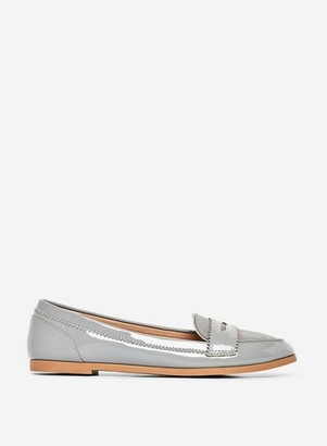 Dorothy Perkins Womens Wide Fit Grey 'Loyle' Loafers, Grey