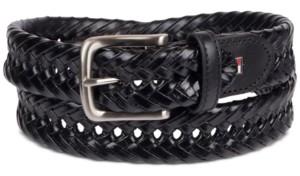 Tommy Hilfiger Men's Braided Leather Belt