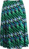 Michael Kors Pleated Chevron Skirt