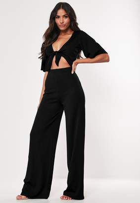 Missguided Petite Black Cut Out Kimono Sleeve Jumpsuit