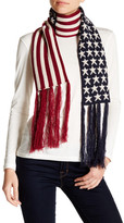 David & Young Oblong Knit Americana Scarf