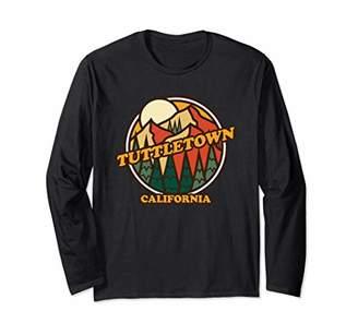 Vintage Tuttletown California Mountain Hiking Souvenir Print Long Sleeve T-Shirt