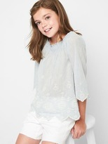 Gap Embroidery off shoulder top