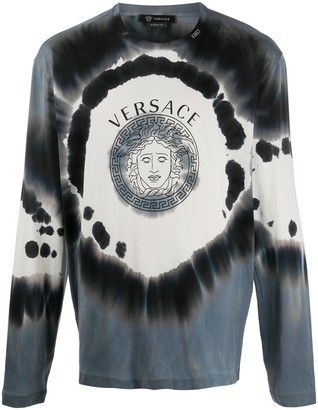 Versace tie-dye longsleeved T-shirt