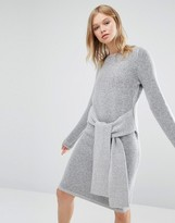 NATIVE YOUTH Tie Front Knit Dress