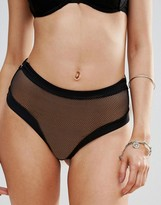 Free People High Waisted Mesh Knickers