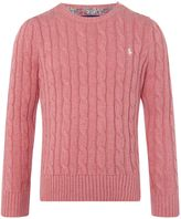 Polo Ralph Lauren Girls Cable Knit Jumper