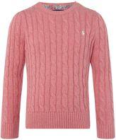 Polo Ralph Lauren Girls Cable Knit Jumper