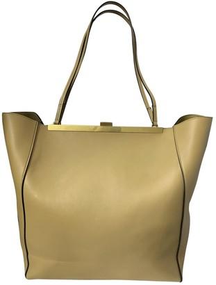 Celine Clasp Beige Leather Handbags