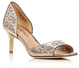 Via Spiga Lysette Metallic Perforated d'Orsay Pumps - 100% Exclusive