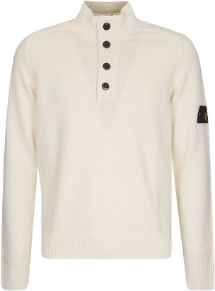 Stone Island High-neck Button Placket Sweater