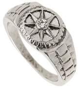 Burton Mens Silver Compass Ring