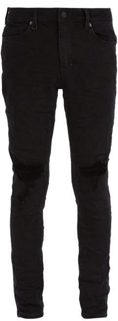 Neuw Rebel Distressed Skinny Jeans - Mens - Black