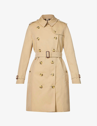 Burberry Kensington short cotton trench coat