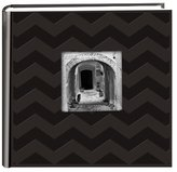 Pioneer Photo Albums DA-200CVR 200-Pocket Chevron Embossed Frame Leatherette Photo Album, 4 by 6-Inch, Black