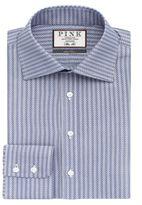 Thomas Pink Men's Ackerman Texture Slim Fit Button Cuff