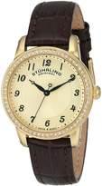 Stuhrling Original Women's 651.02 Symphony Analog Display Swiss Quartz Brown Watch