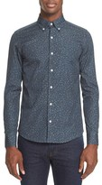Saturdays NYC Men's Print Slim Fit Woven Shirt