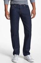 Quiksilver 'Revolver' Straight Leg Jeans (Blue Rinse)