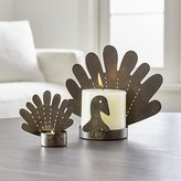 Crate & Barrel Turkey Candle Holders