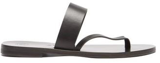 Álvaro González Alberta Diagonal-strap Leather Slides - Black
