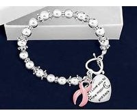 Overstock Pink Cancer Ribbon Awareness Bracelet I Love you to the Moon and Back