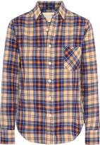 R 13 Check cotton-blend shirt