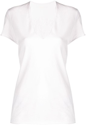 Zadig & Voltaire tulle insert T-shirt