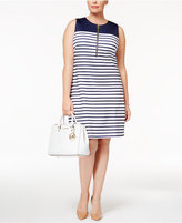 MICHAEL Michael Kors Size Striped Sheath Dress