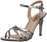 Buffalo David Bitton Womens 312703 METALLIC PU Ankle Strap Sandals Silver Silber (PEWTER 01) Size: 5