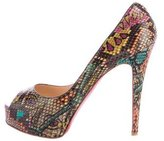 Christian Louboutin Leather Embossed Pumps
