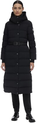 Burberry LONG HOODED TECH DOWN COAT