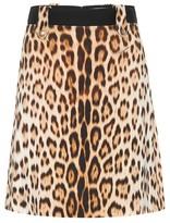 Roberto Cavalli Leopard-print A-line skirt