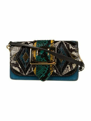 "Burberry Patchwork ""The Toye"" Crossbody Bag Blue"