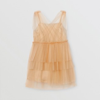 Burberry Childrens Tulle Tiered Dress