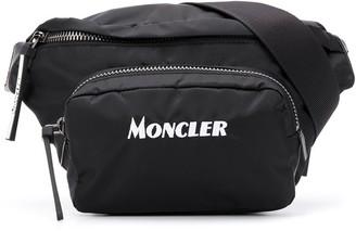 Moncler logo-embroidered belt bag