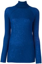 Haider Ackermann ribbed roll neck jumper - women - Polyamide/Viscose/Wool/Virgin Wool - M