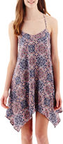 My Michelle Sleeveless Batik T-Back Slip Dress- Juniors