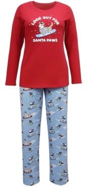 Family Pajamas Matching Women's Santa Paws Family Pajama Set, Created for Macy's